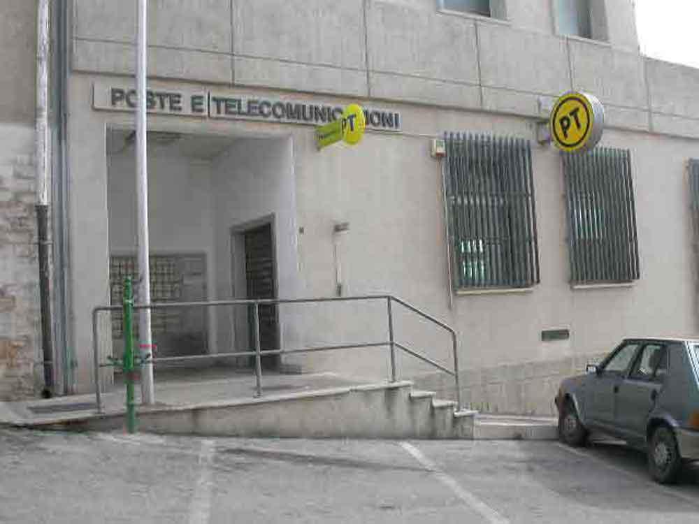 L'ufficio delle Poste Italiane a peschici