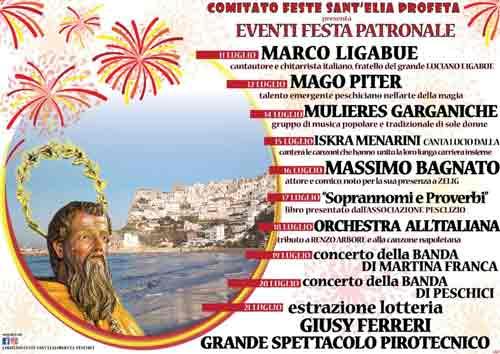 Sant'Elia 2019 Programma