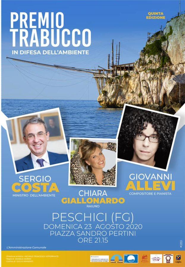 23 Agosto Premio Trabucco Con il Ministro Sergio Costa , il compositore e pianista Giovanni Allevi e la Conduttrice RAI Chiara Giallonardo